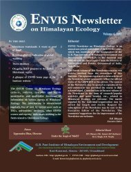 ENVIS Newsletter - ENVIS Centre on Himalayan Ecology