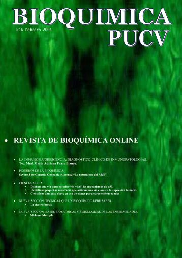 • REVISTA DE BIOQUÍMICA ONLINE - Pontificia Universidad ...