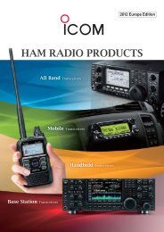 options for base station transceivers - Icom France