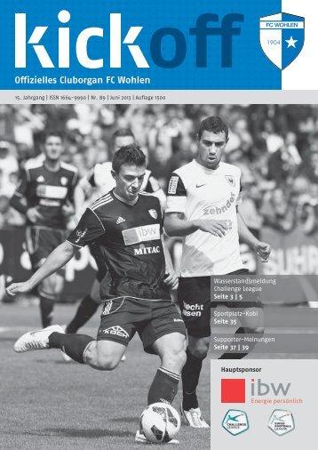 Sportplatz-Kobi Seite 35 Wasserstandsmeldung ... - FC Wohlen