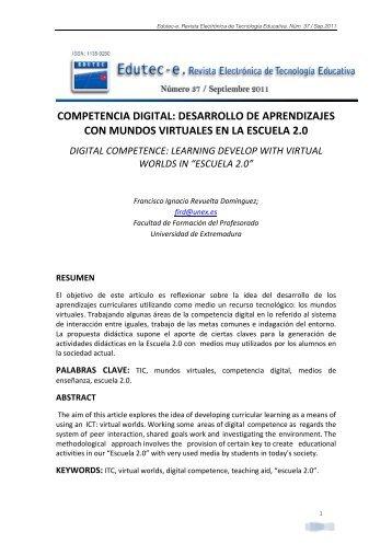 Competencia digital - Comunidad Virtual Tecnología Educativa