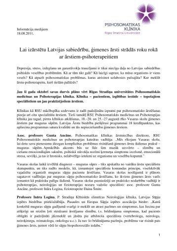 Lai izārstētu Latvijas sabiedrību, imenes ārsti strādās roku rokā ar ...