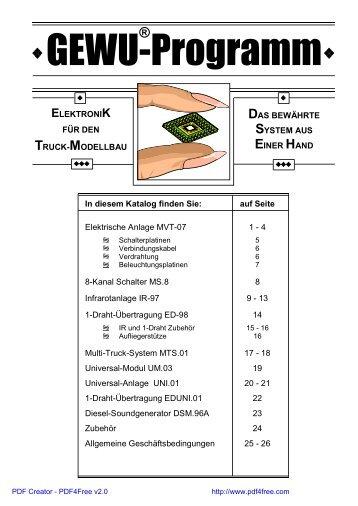 GEWU Katalog