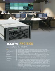 FRC-5100 - Christie Digital Systems