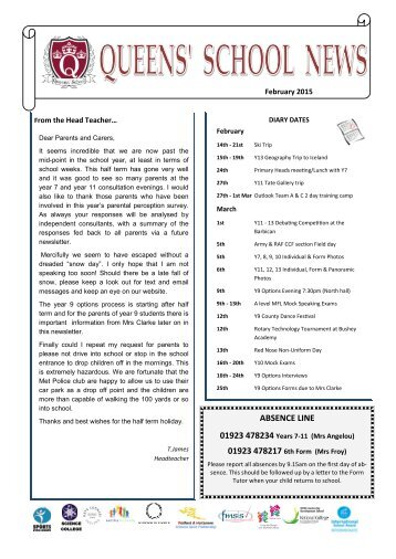 Queens-School-Newsletter-February-2015