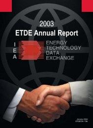2003 ETDE Annual Report