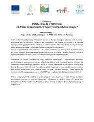 na drodze do sprawiedliwej i efektywnej polityki w Europie? - Events