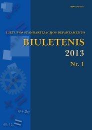 Biuletenis 2013-01 AS - LST - Standartizacijos departamentas prie AM