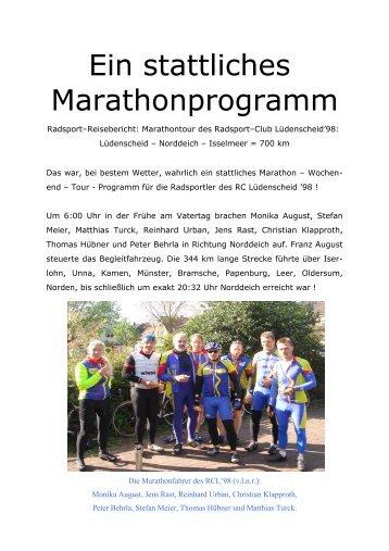 Bericht Ijsselmeer - Rundfahrt 2008 - Radsport Club Lüdenscheid ...