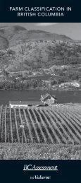 FARM CLASSIFICATION IN BRITISH COLUMBIA - BC Assessment