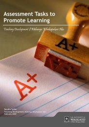 Assessment Tasks to Promote Learning - The University of Waikato