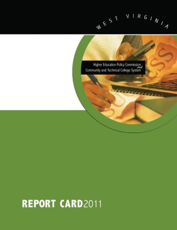 RepoRt CaRd2011 - West Virginia Higher Education Policy ...