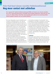 Interview vertrekkend en nieuwe voorzitter Patiëntenadviesraad