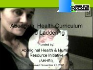 Aboriginal Health Curriculum and Laddering   pdf download
