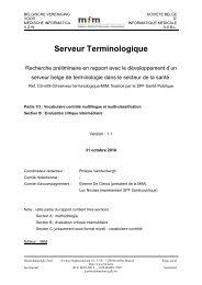 Serveur Terminologique - MIM