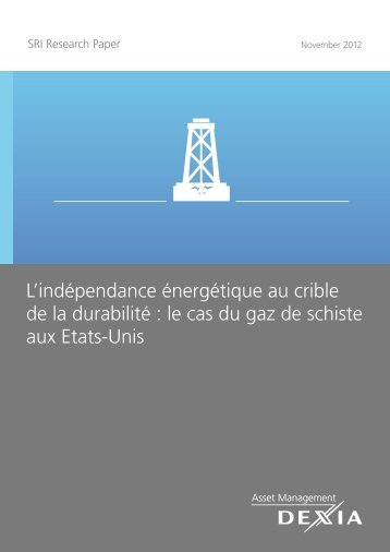 le cas du gaz de schiste aux Etats-Unis - Dexia AM