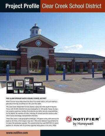 Project Profile Clear Creek School District - Notifier