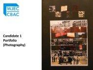 Candidate 1 Portfolio (Art & Design) - WJEC