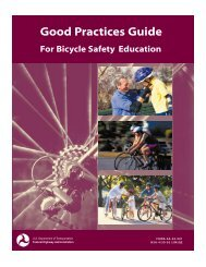Good Practices Guide for Bicycle safety Education - Bicyclinginfo.org