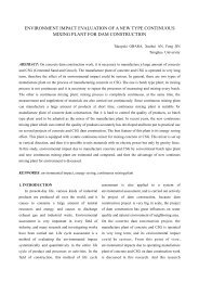 environment impact evaluation of a new type continuous mixing