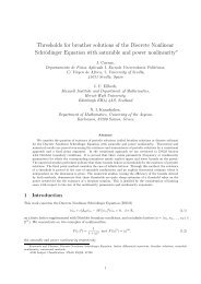 Thresholds for breather solutions of the Discrete Nonlinear ...
