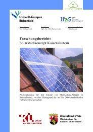 Solarstadtkonzept Kaiserslautern - Kaiserslautern Stadtplan - Stadt ...