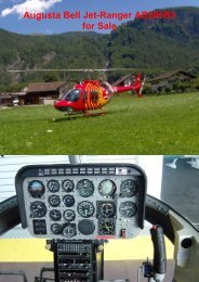 Jet-Ranger AB206B3 for Sale - Mountain Flyers Bern Belp