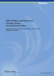 2005 Childcare and Early Years Providers Survey Out-of-School ...