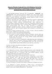 Quaestor Pénzügyi Tanácsadó Zrt. (1132 Budapest, Váci út 30 ...