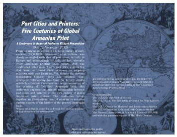 Port Cities and Printers: Five Centuries of Global ... - Armenian Weekly
