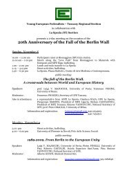 20th Anniversary of the Fall of the Berlin Wall - PeaceLink