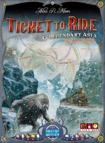 T2R China Mytic rules:Regles T2R suisse - Days of Wonder