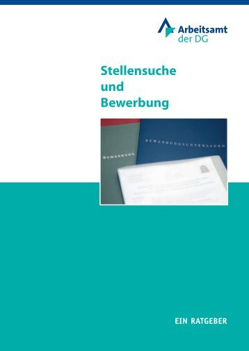 """""""Stellensuche und Bewerbung"""" (ADG) - Arbeitsamt der DG"""