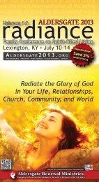 Aldersgate 2013 Brochure - Wisconsin Conference United Methodist ...