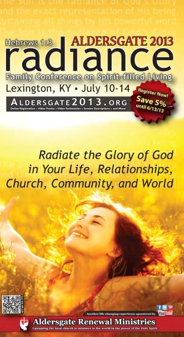Aldersgate 2013 Brochure - Wisconsin Conference United Methodist ...