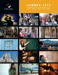 SUMMER 2013 - CET Academic Programs