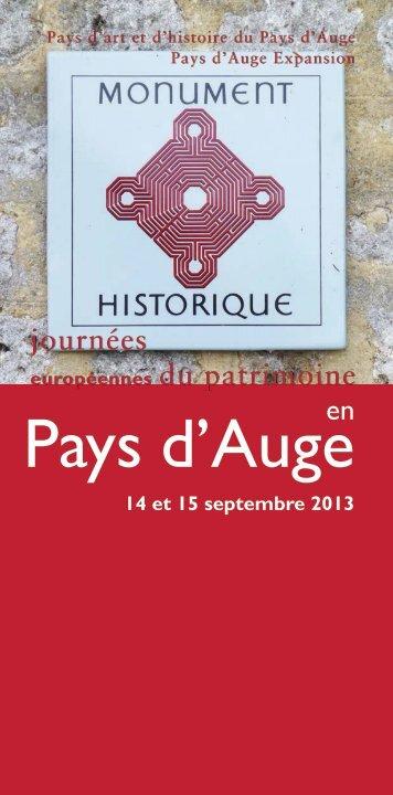 Brochure_JEP2013 - Pays d'Auge