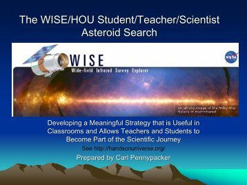 The WISE/HOU Student/Teacher/Scientist Asteroid Search