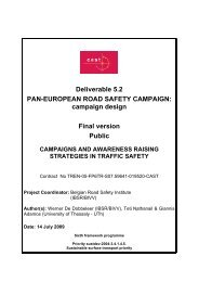 Deliverable 5.2 PAN-EUROPEAN ROAD SAFETY CAMPAIGN ...