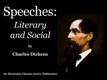 Speeches: Literary and Social - Penn State University