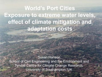 Port Cities Exposure to Climate Change
