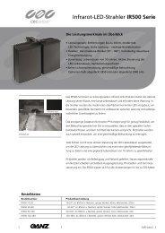 Infrarot-LED-Strahler IR500 Serie - CBC CCTV