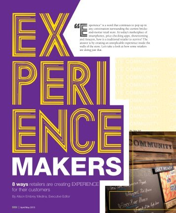 8 ways retailers are creating EXPERIENCE for their customers - DDI