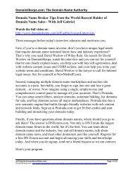 Jeff Gabriel Interview Transcript in PDF Format - DomainSherpa