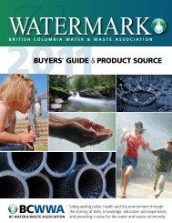 buyers' guide & product source - BC Water & Waste Association