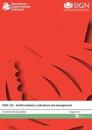 SIGN 129 • Antithrombotics: indications and management - sicoa