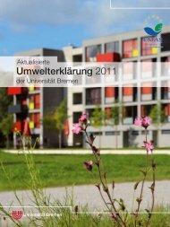 Umwelterklärung 2011 - Ums Uni Bremen - Universität Bremen