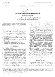 79 VYHLÁŠKA Ministerstva vnútra Slovenskej republiky z 20 ...