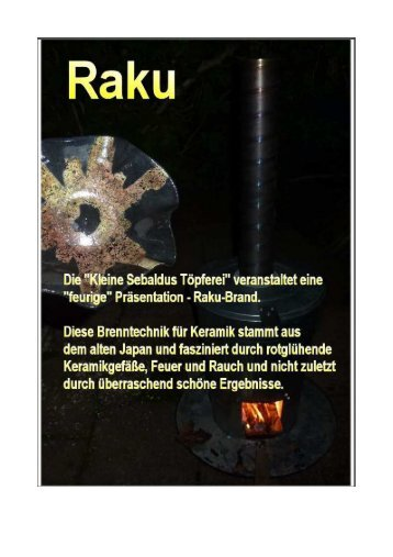 Raku - Sebaldus-Töpferei