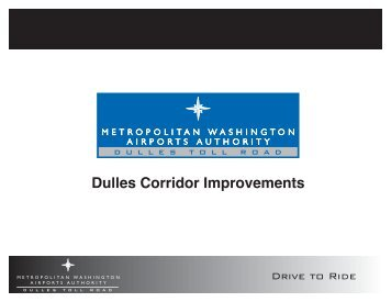 Dulles Corridor Improvements - Metropolitan Washington Airports ...